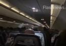ვიდეო ათენიდან მიმავალი თვითმფრინავიდან, რომელიც უკან, აეროპორტში დაბრუნდა