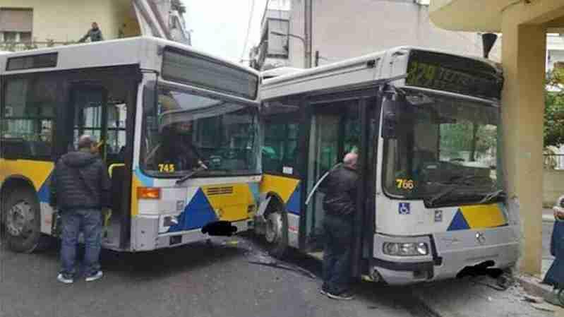 ათენი: ორი ავტობუსი ერთმანეთს შეეჯახა – დაშავებულები არიან მგზავრები